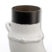 Close-up of White Lightning™ exhaust coating